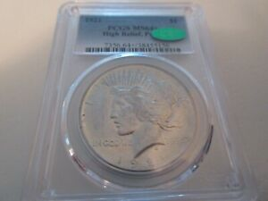 1921 Peace Dollar  PCGS  MS64+    High Relief    CAC