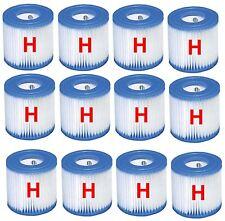 Set of 12 Intex Swimming Pool Filter Cartridges Type H for Pumps 28601 / 28602