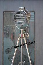 British Royal Master Stainless SteelTripod Floor Lamp Search Light Spot Light