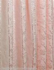 Crushed Jacquard Voile Window Curtain Blush Pink 2PCS #8393 Creative Linens