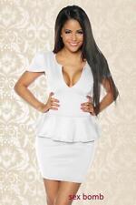 SEXY abito vestito vintage bianco TAGLIA S, M, L, XL (40, 42, 44, 46) GLAMOUR