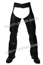 100% genuine leather chaps avec front boucle et dos laçage moto