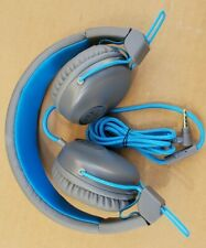 JLab Audio Studio Wired On-Ear Blue Headphones