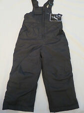 NEW Vertical'9 Black Insulated Snowsuit Overalls Snow Bib Pants Boys Toddler 3T