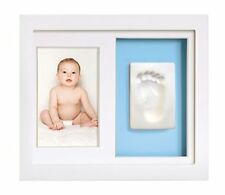 New Nib Baby's Print Wall Frame No Mixing No Mess Blue or Pink by Tiny Ideas