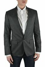 "Dolce & Gabbana ""Sicilia"" Men's Gray Silk Striped Blazer Size US 38 IT 48"