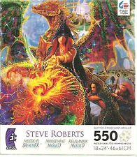 DRAGON MASTER'S APPRENTICE BY STEVE ROBERTS - Complete - SHIMMER GLITTER PUZZLE