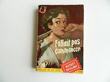 Vengeance is Mine by Mickey Spillane, French Vintage Paperback 1951