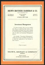1931 Brown Brothers Harriman investment management theme vintage print ad 2