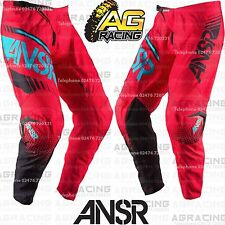 Answer 2017 Youth Kids Syncron Red Teal Race Pants 22 inch Motocross Enduro Quad