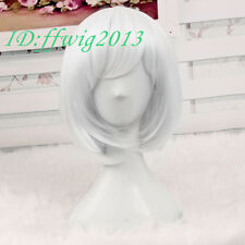 Cosplay Wig Fairy Short White Anime Full Hair Christmas Decoration