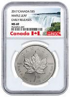2017 Canada $5 1 oz Silver Maple Leaf NGC MS69 ER Exclusive Label SKU44176