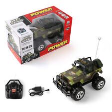 RC Car 1/16 Remote Control Vehicle Electric Army Green Jeep Buggy Off-Road Toys