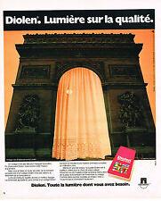 PUBLICITE ADVERTISING 025  1977  DIOLEN rideaux voilages  ETS LINDER PARIS
