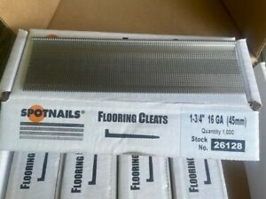"1 Box Spot Nails 1 3/4""16ga Cleat Nails Tongue & Groove  Bostitch 1000 per Box"