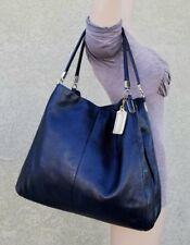 Coach LRG Black 24621 Leather Madison Phoebe Shoulder Bag hobo purse handbag EUC