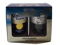 Corona Pint Glasses Set Of 2 New In Box