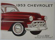 Vtg Automobile History Tail Fin 1953 Chevy Bel Air Chevrolet Retro Sales Catalog