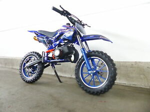 Pocketbike Apollo Nitro Motors 49ccm Pocket Cross Bike Dirtbike 10 Zoll Blau
