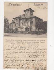 Zuerich Paracelsus Privatklinik Switzerland 1910 Postcard Bahnpost Postmark 273b