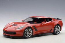Autoart 71262 - 1/18 Chevrolet Corvette C7 Z06 2014 - Red / Silver Rims - Neu