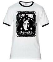 John Lennon Live in New York City 1972 The Beatles Officiel Tee T-shirt Homme Unisexe