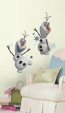 Disney OLAF SNOWMAN Frozen Wall Decals Snow Man Decorations Room Decor Stickers