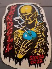 Vtg 1980s Jeff Kendall Atom Man sticker. Santa Cruz Skateboards