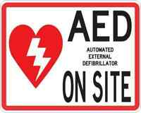 5x4 AED on Site Sticker Vinyl Medical Emergency Business Sign Decal Stickers