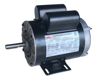 """2 HP SPL Compressor Duty Electric Motor 3450 RPM 56Frame 5/8"""" Shaft 120/240 VOLT"""