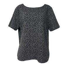 ann taylor loft gray black short sleeve shirt Size M