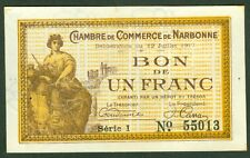 NECESSITE 1 FRANC CHAMBRE DE COMMERCE DE NARBONNE  ETAT: SPL lot 612