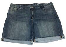 d2506f63aaafe New ListingWomens Plus Sonoma Denim Bermuda Blue Jeans Shorts Size 24W 24  EUC Mom
