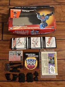 Transformers 1986 Hot Spot Original Box Accessories Paperwork Stickers NO FIGURE