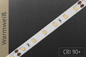 LED-Streifen 24V warmweiß 2500-2700K, high CRI>90, 60 LEDs/m, 1100 lm/m, 5m