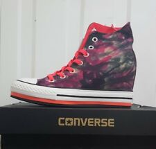 Womens Converse Ct Platform Plu Hi Heel Black Pink Trainers 542625f UK 5.5 / EUR 38
