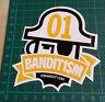 BANDIT1SM STICKER-123 Klan-Bandit1$M- 10x10cm-STREET ART-PEGATINA-DECAL-GRAFFITI