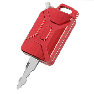 High-Quality 3D CNC Oil Tank Shape Motorcycle Key Cover Keychain Red