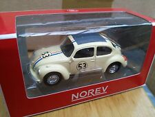 Norev 319226 VW Beetle Herbie Modello Diecast Auto Da Rally Numero 53 SCALA 1:64th