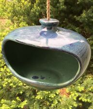 Garden Pottery Blue Hanging Feeder Planter
