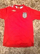 ENGLAND Home Shirt Season 2006/08-Umbro-Size Medium