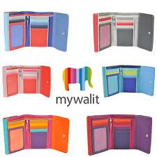 Mywalit Double Rabat Cuir Porte-Monnaie 5 Carte Portefeuille Avec Stylo Diverses