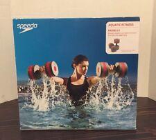 Speedo Aquatic Fitness Barbells Charcoal Red  Weights Water Aerobics