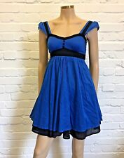 Therapy Stunning Cotton Empire Line Day Dress Uk 6