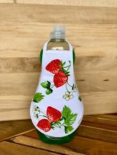 Strawberries Fruit Kitchen  Dish Soap or Lotion Bottle Apron - fits 25 oz