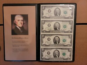 World Reserve Monetary Exchange Uncut 2003A $2 Sheet of 4 Bills w// COA