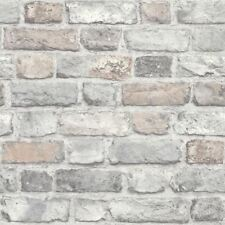 PASTEL VINTAGE OLD HOUSE BRICK WALL FEATURE DESIGNER WALLPAPER GRANDECO A28902
