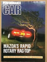 Performance Car Magazine - January 1989 - Carrera 4  BMW 325i Sport.
