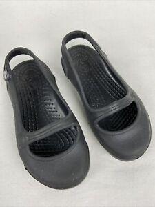 Crocs Girls Baby Toddler Black Mary Janes Size C 6