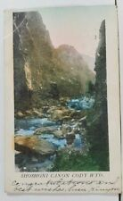Shoshoni Canon Cody Wyoming Hand Colored Postcard L19